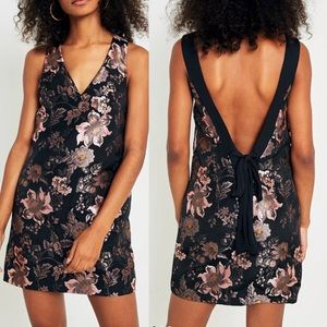 Urban Outfitters | jacquard floral open back dress